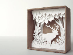 love the detailed artistry of the woodland and deer.