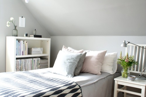 grey + pastel (via Nordic Bliss – Scandinavian style for your home)