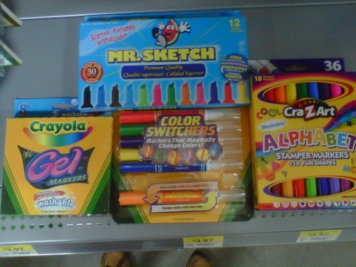 Markers I plan to buy plus highliters : )