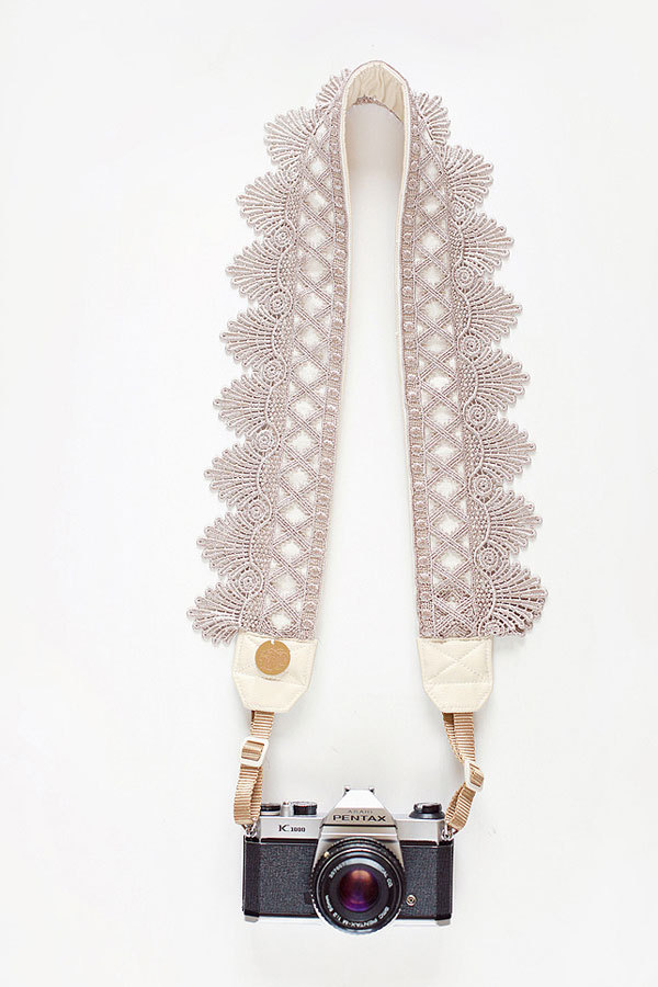 Lovely camera strap via bloomtheorystraps.com