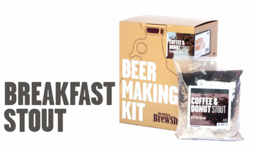 laughingsquid:  Coffee + Donut Stout Beer Making Kit
