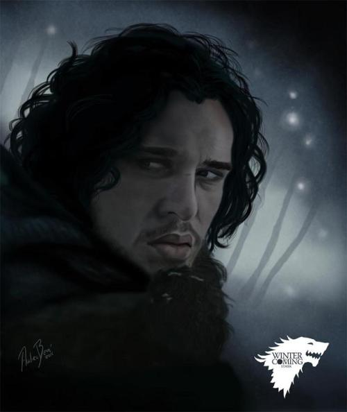 gameofthrones:  Jon Snow by Andrea Beré
