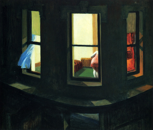 librarymouse:  Night Windows, 1928, Edward Hopper.