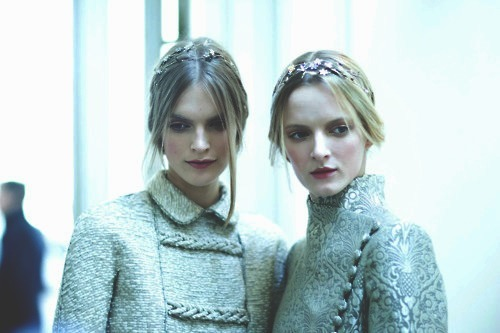 backstage at valentino