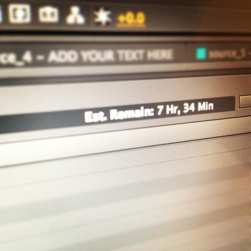 My life is mostly rendering these days. (Taken with instagram)