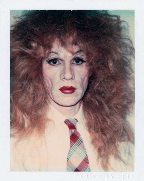 fckyeaharthistory:  Andy Warhol - Self-Portrait in Drag (Long Reddish-Brown Wig and Plaid Tie), 1981/82.