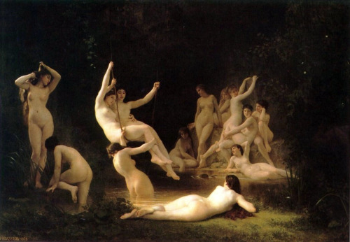 arthistory-blog:  The Nymphaeum (1878) by William Adolphe Bouguereau