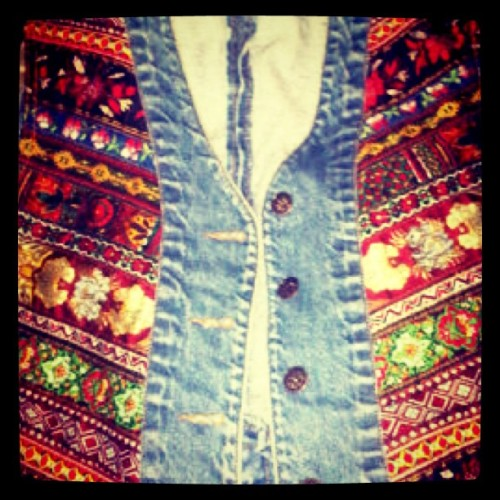 Vest I #thrifted for my bro bro #dope #vintage  (Taken with instagram)