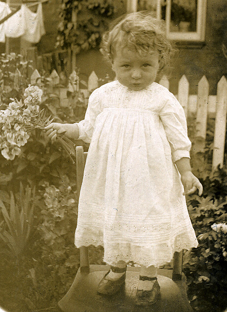 Edwardian child in the garden by lovedaylemon on Flickr.