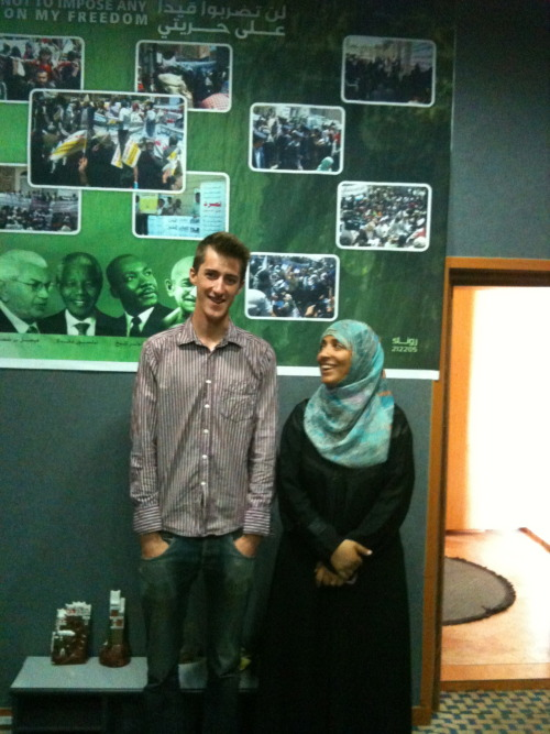 Tom Finn and Tawakkol Karman, Sana'a, 2011