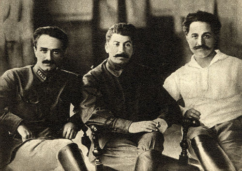 Anastas Mikoyan, Joseph Stalin and Sergo Ordzhonikidze in Tiflis (now Tbilisi), in 1925