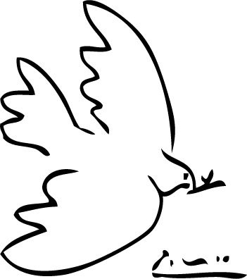 artemisdreaming:  Above: The Dove of Peace  -  Pablo Picasso . This is my simple religion. There is no need for temples; no need for complicated philosophy. Our own brain, our own heart is our temple; the philosophy is kindness. ~Dalai Lama