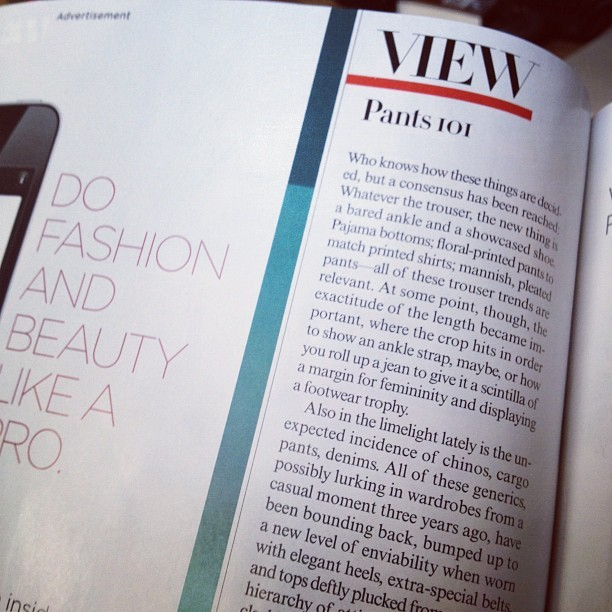 """Pants 101."" Really, Vogue? (Taken with instagram)"