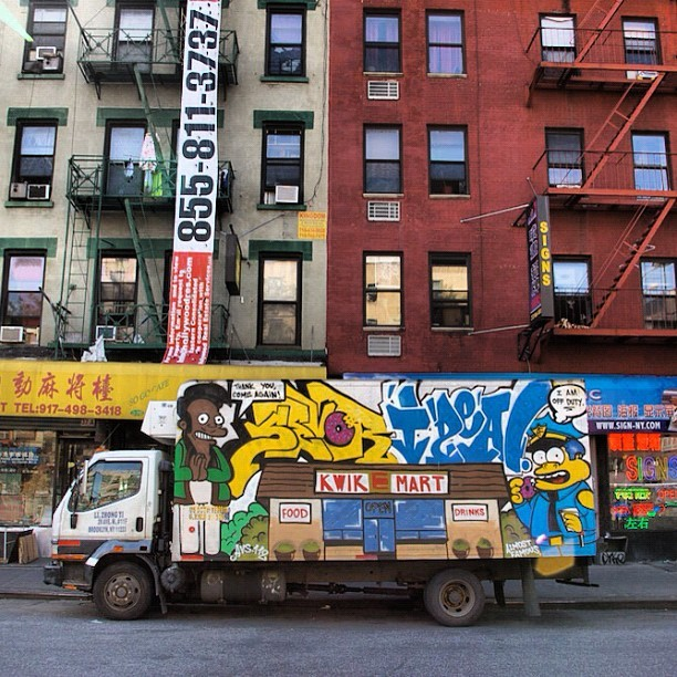 aardvarknyc:  #Sevor #Ideal #Simpsons #Boxtruck (Taken with instagram)