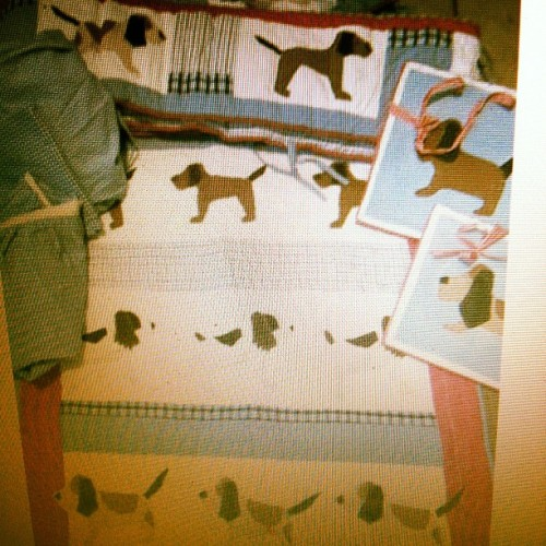Wish I hadn't been helping my bestie find baby bedding because I want this! It has both Grace and Beau dogs on it. A perfect match! (Taken with instagram)