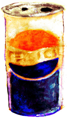 pepsi can. markers/watercolors/multimedia. brendan garbee