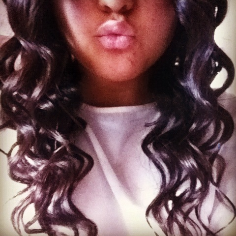 #long #curly #hair #wand