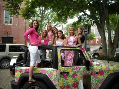 prepitude:  who wants a ride in the lilly jeep?