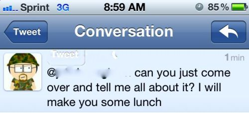 Why yes, stranger.  Lunch sounds amazing.