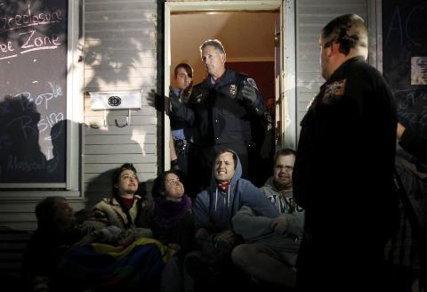 Foreclosure Protest Puts Minneapolis Officials in Tight Spot  A protest over the foreclosure of a house in south Minneapolis has escalated into a nightly confrontation with police and created a political dilemma for city leaders, who loathe taking part in foreclosures but say they have to keep the peace. Fifteen activists with the Occupy movement were arrested Wednesday after repeated episodes over the past week in which the city has tossed out protesters and boarded up the house, only to see the demonstrators peel back the boards and use chains, concrete-filled barrels and other obstacles to make it more difficult to carry them away. (more)