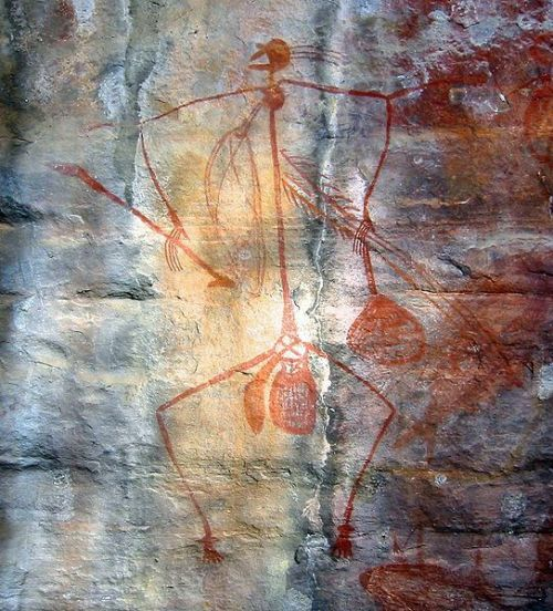 Rock painting at Ubirr in Kakadu National Park. Evidence of Aboriginal art in Australia can be traced back some 30,000 years
