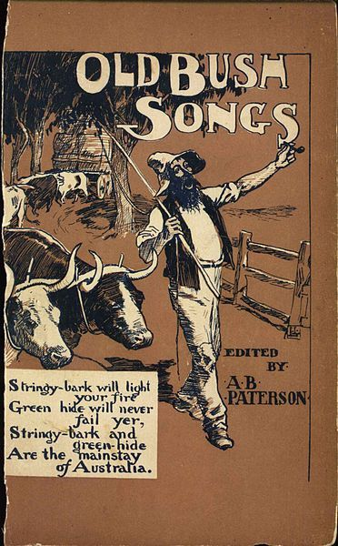 Cover to Banjo Paterson's seminal 1905 collection of bush ballads, entitled Old Bush SongsBush songs or bush ballads are a folk music and poetry tradition in Australia's outback. The rhyming songs, poems and tales often relate to the itinerant and rebellious spirit of Australia, a young country. The lyrical tradition of bush songs was born of settlers and influenced by Aboriginal society in the geographical areas referred to as The Bush. The performers are sometimes referred to as bush bards.