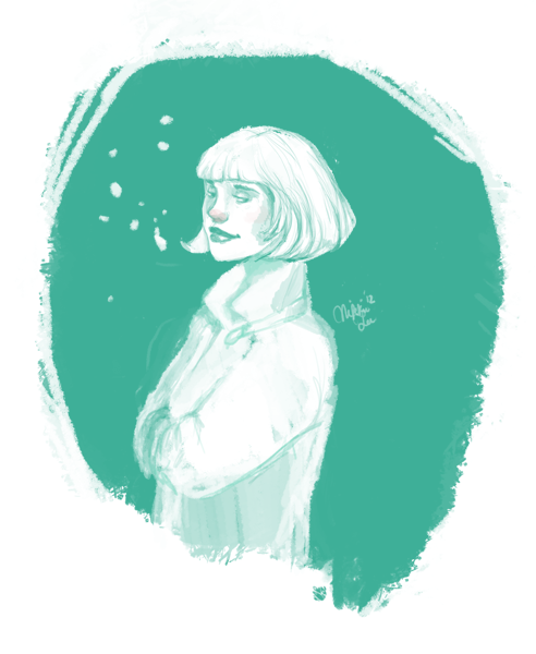 Midnight doodle of…. winter? not polished, but i like it that way :)