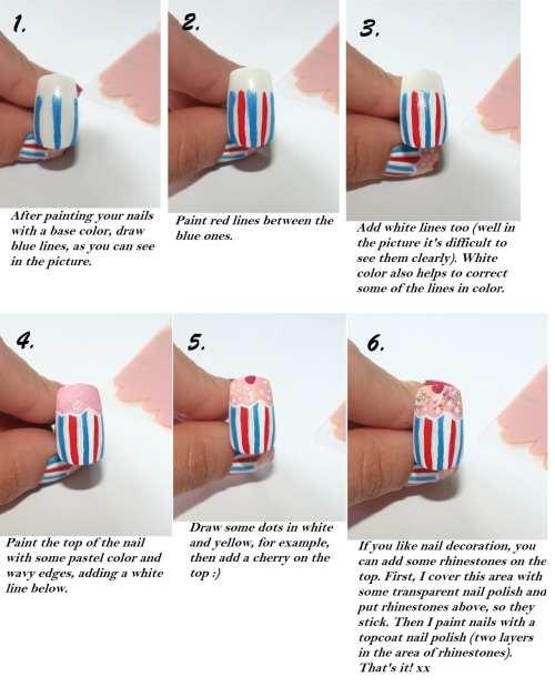 "Tutorial for ""Oh là là!"" nail design part 2 xx"