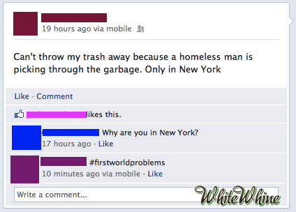 I don't want him to get my valuable trash