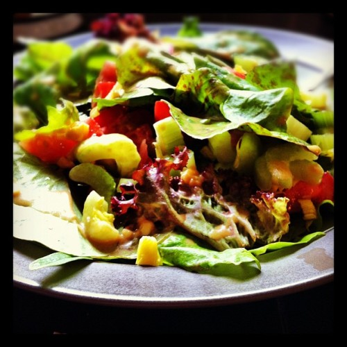 On my plate - salad with lettuce from my very own garden! #photoadayjune  (Taken with instagram)