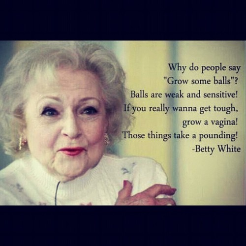 meg-monster:  (via @lupi588 | Haha, betty white is hillarious | Webstagram)