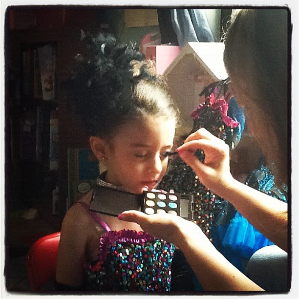 Recital Day: Behind the scenes  (Taken with instagram)