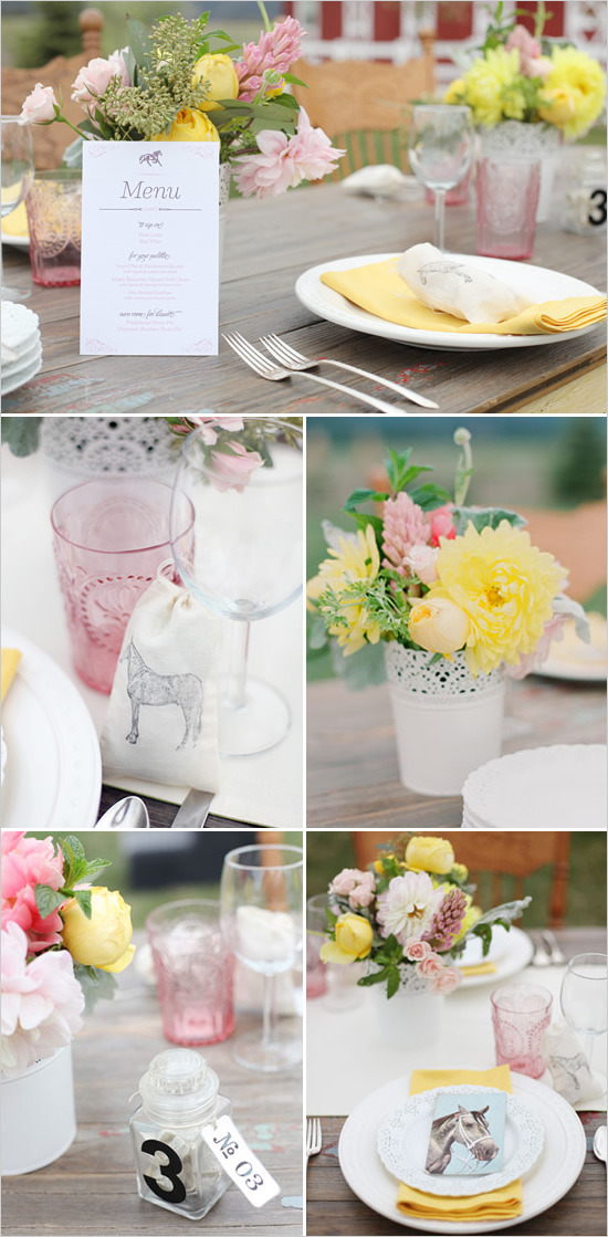 » Simple feminine table setting