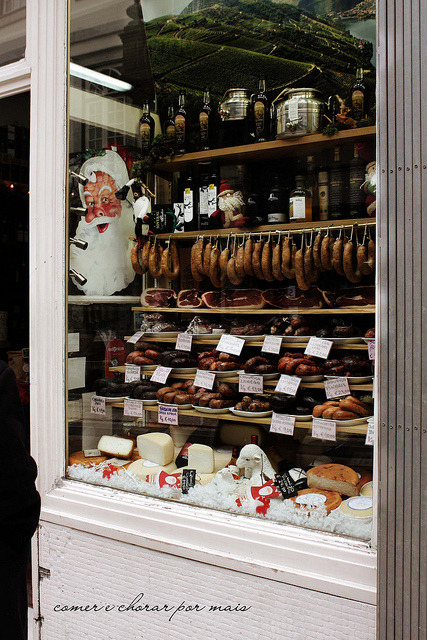 valscrapbook:  Chouriços, hams, wines and cheeses by Mónica Isa Pinto on Flickr.  My dream come true.