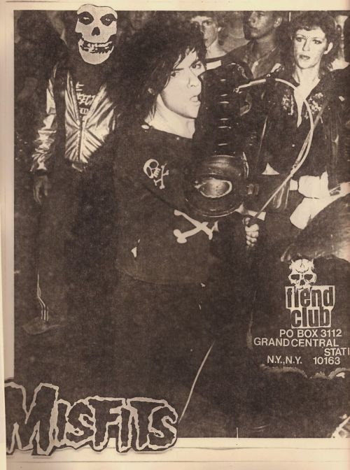 mainthreat:  Misfits - fiend club flyer 1983