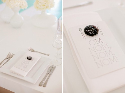 Love this black & white menu