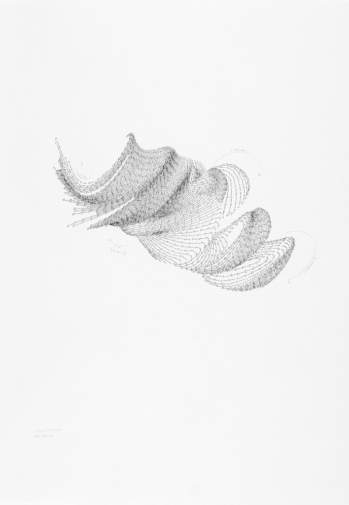 purestform:  STB/S14/13, 2012 Ink, pencil on paper 42,0 x 59,4 cm Peter Jellitsch