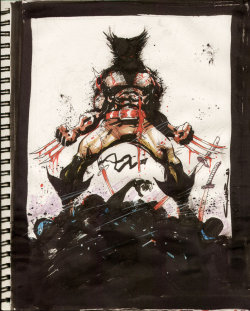 Wolverine sketch by Yildiray Cinar. September, 2009.