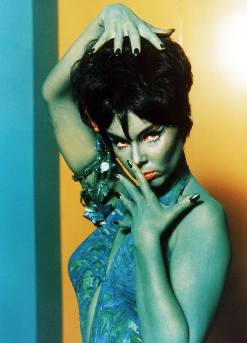 "Yvonne Craig as Marta the green slavegirl in ""Whom Gods Destroy"" Star Trek, 1969"