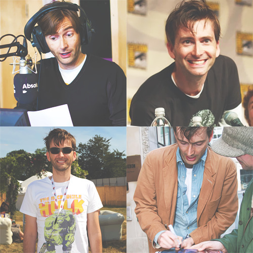 "→ 1/50 favourite actors - David Tennant""I've always been preposterously single-minded about my career. I was three years old when I decided I wanted to be an actor. I just loved watching people on the telly. I was watching stories being told and thinking 'this is just great'. I think I had a conversation with my parents about who these people were in the TV and as soon as I had an understanding that this was a job, that people got paid for telling stories, that was what I wanted to do."""
