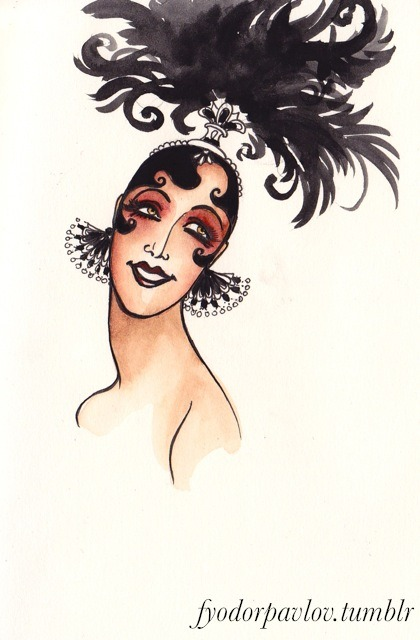 "It's Josephine Baker's birthday! I don't have time to do a drawing of her since I'm working on commissions, so here's a little doodle from a while back. ""I'm not intimidated by anyone. Everyone is made with two arms, two legs, a stomach and a head.""  -Josephine Baker"