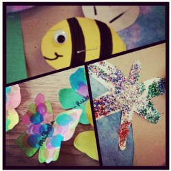 #ilovemyjob #bee #butterfly #dragonfly #glitter #daycare  (Taken with instagram)