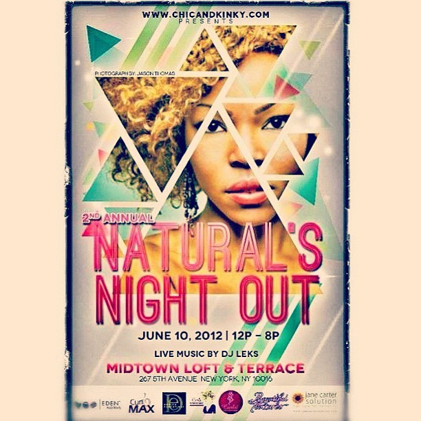 JUNE 10th. Natural's Night Out. 12pm- 8pm. Music by DJ LEKS ( @mrclaspolandmusic ) Event by @chicandkinky www.chicandkinky.com for more details. #natural #hair #style #create #music #jewelry #designers (Taken with instagram)
