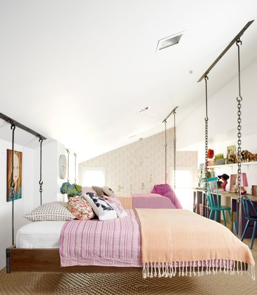 Fun hanging bed