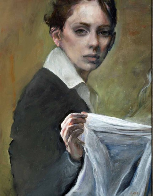 Considering the Veil  Oil on linen Sold
