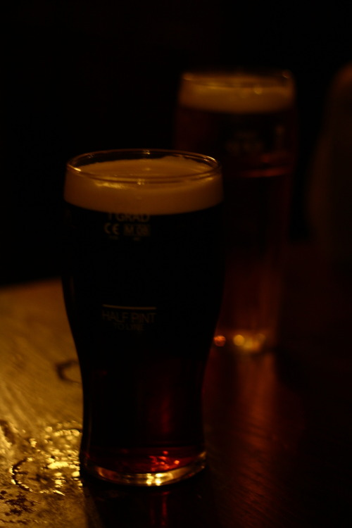 Beer, we were in the pub..again.