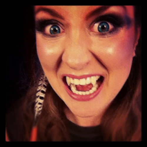 Time to die! #contacts #model #makeup #vampire #fangs #fun (Taken with instagram)