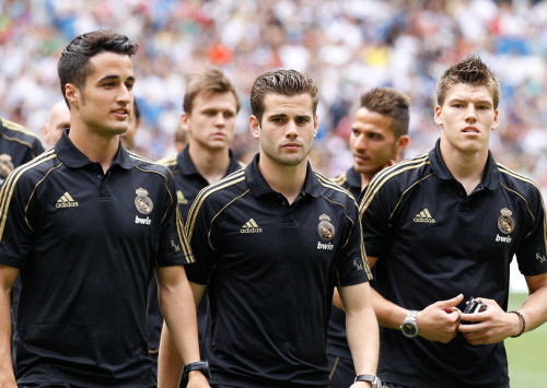 Real Madrid Castilla players at Corazon Classic Match