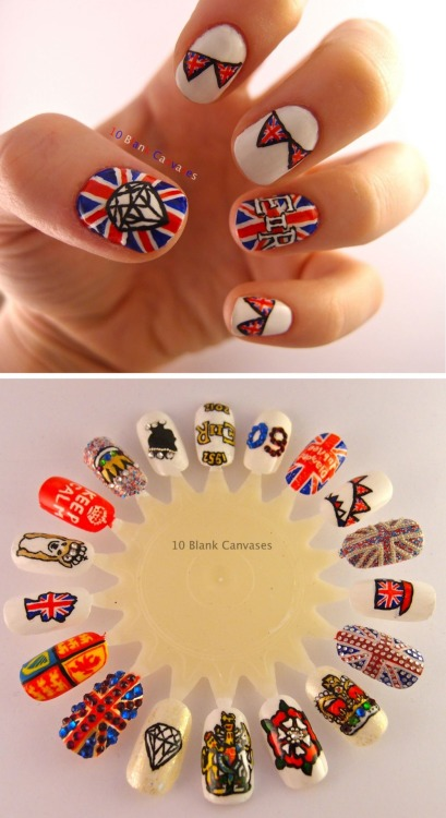 Lots of Diamond Jubilee nails