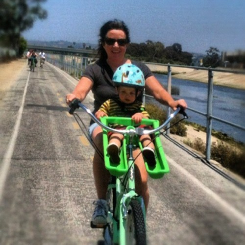 Brendan going for a bike ride! #bike #fun (Taken with instagram)